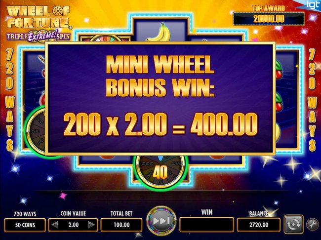 Wheel of Fortune Triple Extreme Spin screenshot