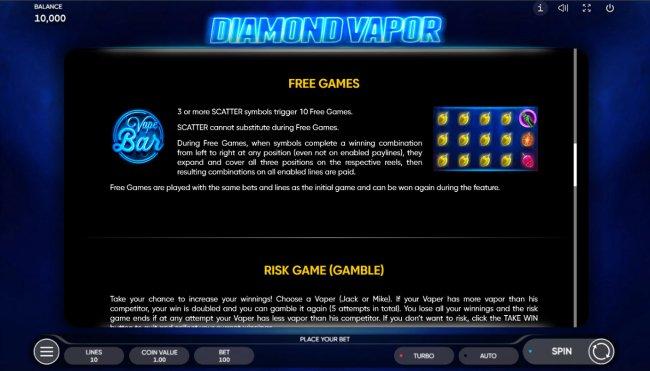 Diamond Vapor by Free Slots 247