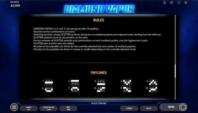 Diamond Vapor screenshot