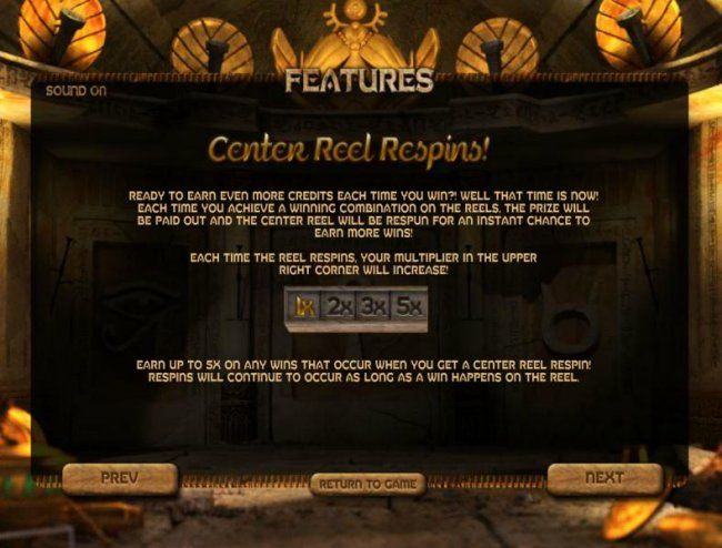 Free Slots 247 - center reel respins feature rules