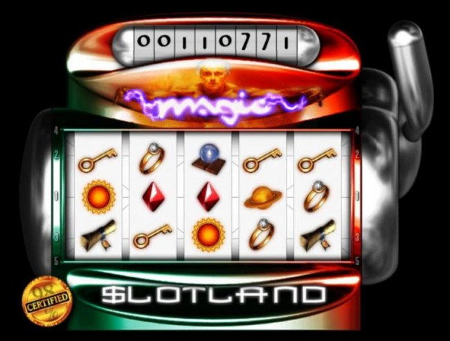 Main game board featuring five reels and 5 paylines - Free Slots 247