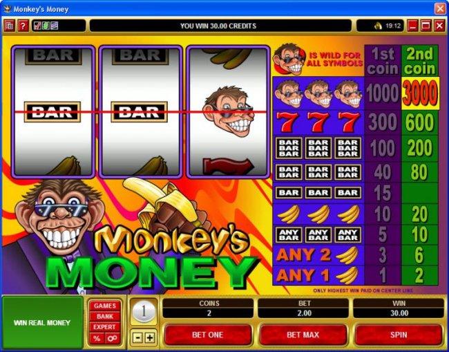Monkey's Money screenshot
