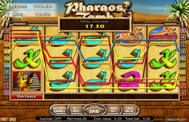 Casino Bonus Lister image of Pharaos Tomb
