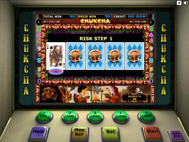 Free Slots 247 - Beat The Dealer - Double or Nothing Gamble Feature Game Board - Select a card that is higher than the dealers for a chance to double your winnings.