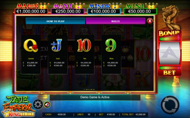 Jade Emperor King Strike by Free Slots 247