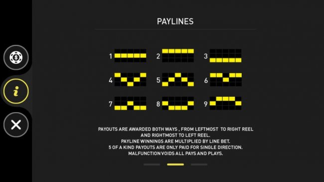 Paylines 1-9 by Free Slots 247