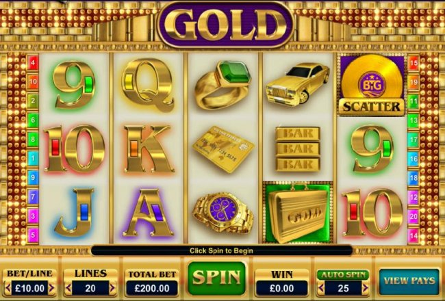 Main game board featuring five reels and 20 paylines with a $25,000 max payout by Free Slots 247