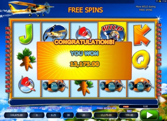 Free Slots 247 - The free spins feature pays out an awesome 13,175.00!