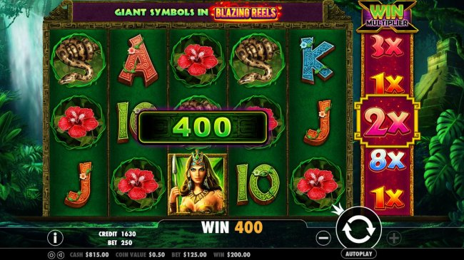 A winning Three of a Kind leads to a 400 coin payout. by Free Slots 247