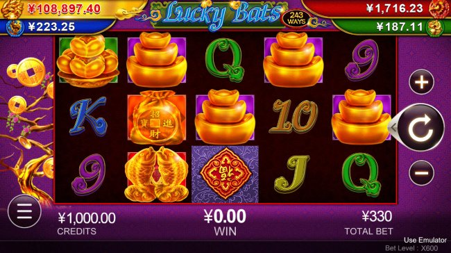 Lucky Bats of Dragon Jackpots by Free Slots 247