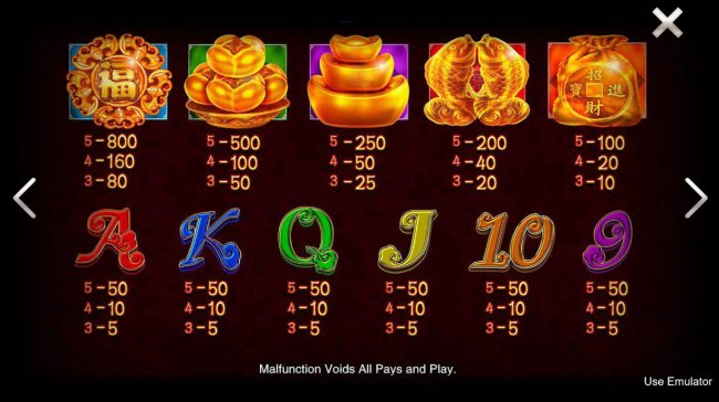 Images of Lucky Bats of Dragon Jackpots