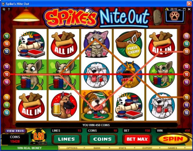 Spike's Nite Out by Free Slots 247