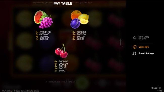 Super Sevens & Fruits 6 Reels by Free Slots 247