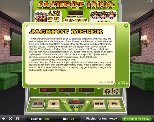 Free Slots 247 - Jackpot Meter Rules
