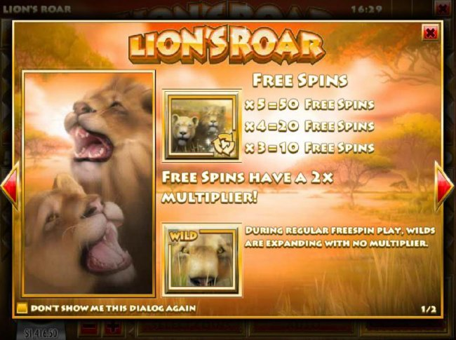 Free Spins have a 2x multiplier. During regular free spin play, wilds are expanding with no multiplier - Free Slots 247
