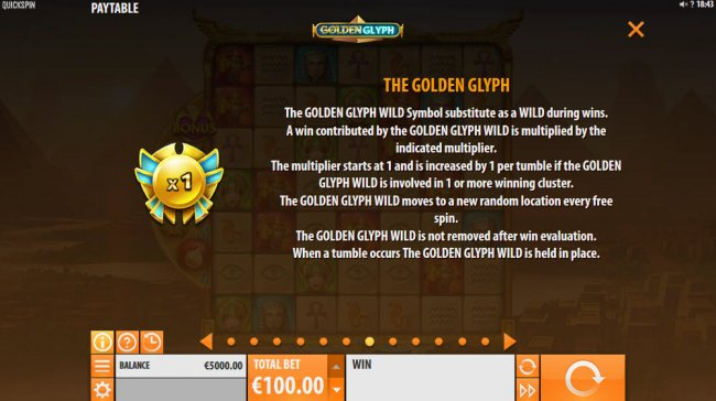 Golden Glyph by Free Slots 247