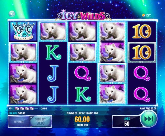 Free Slots 247 - Multiple winning paylines triggers a 60.00 win!