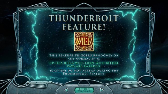 Thunderbolt Feature Rules by Free Slots 247