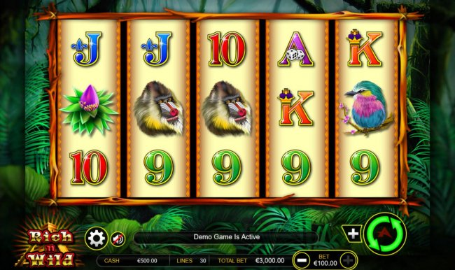 Free Slots 247 - Main game board featuring five reels and 30 paylines with a $300,000 max payout.