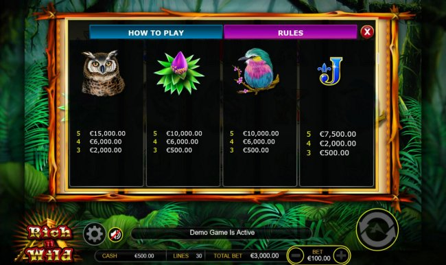 Medium Value Slot Game  Symbols Paytable. - Free Slots 247