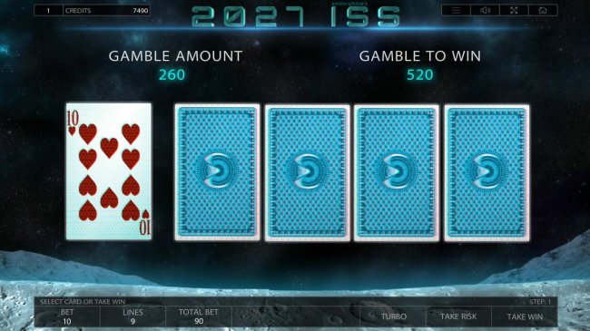 Select 1 of 4 available cards for a chance to beat the dealers card. by Free Slots 247