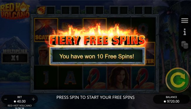Scatter symbols triggers the free spins bonus feature by Free Slots 247