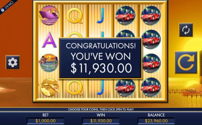 Free Spins feature pays out a total of 11,930.00 by Free Slots 247