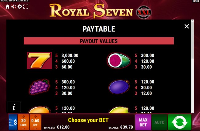 Free Slots 247 image of Royal Seven XXL