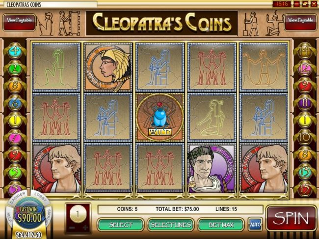 Free Slots 247 image of Cleopatra's Coins