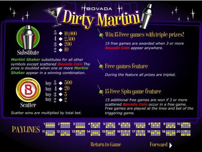 Dirty Martini screenshot