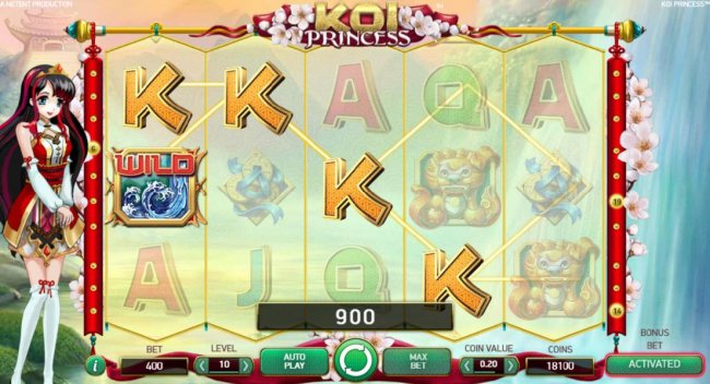 Multiple winning paylines triggers a 900 coin big win! - Free Slots 247