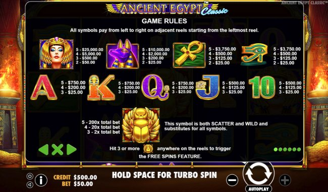 Free Slots 247 image of Ancient Egypt Classic