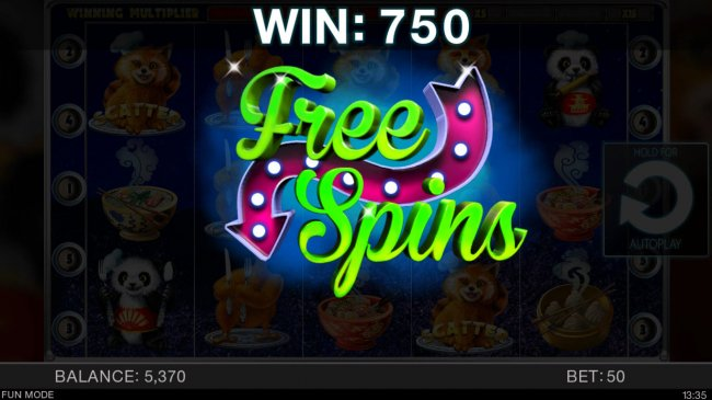 Free Slots 247 - Scatter win triggers the free spins feature