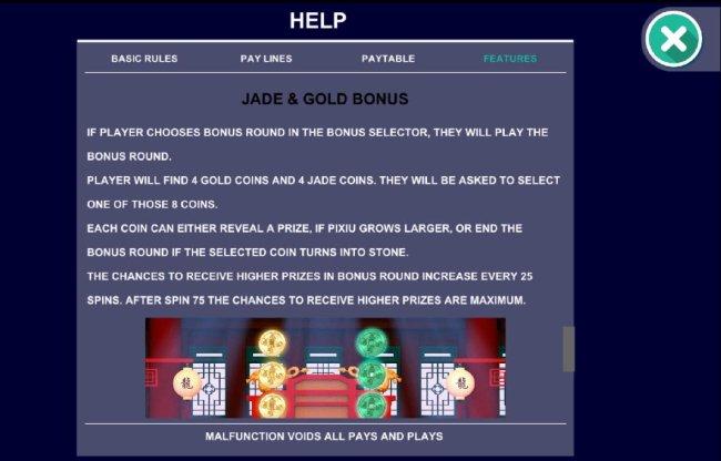 Jade and Gold Bonus Rules - Free Slots 247