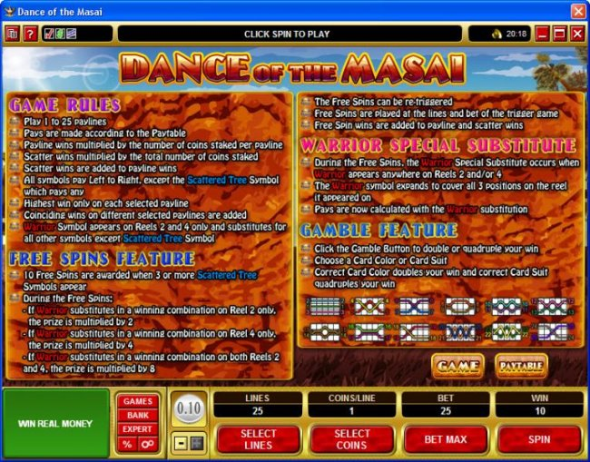 Dance of the Masai screenshot