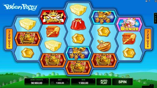 Free Slots 247 - A pair of winning combinations triggers a 1560.00 jackpot award.