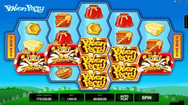Multiple winning combinations of Queen Bee symbols triggers a 48,000.00 super win. - Free Slots 247