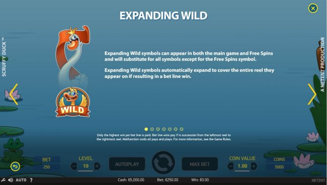 Expanding wild symbols can appear in both the main game and free spins and will substitute for all symbols except for the Free Spins symbol. by Free Slots 247
