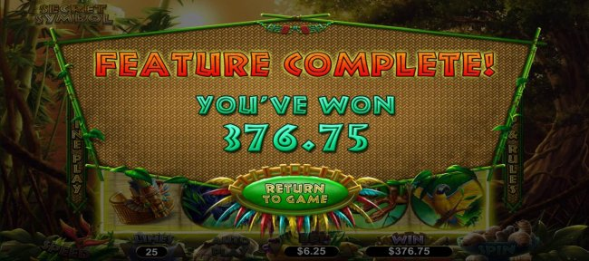 Free Slots 247 - Player is awarded a 376.75 cash prize after completing 10 free spins.
