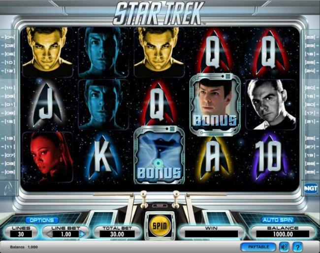 Star Trek slot game playing board - Free Slots 247