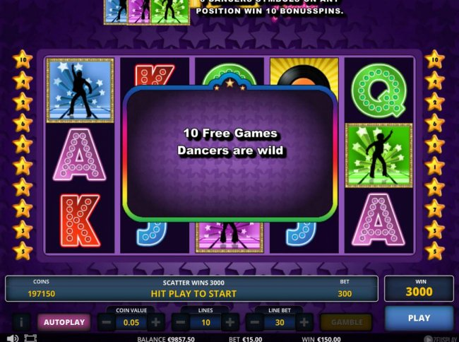 10 Free Games with dancers wild awarded. - Free Slots 247
