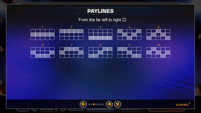 Paylines 1-10 - Free Slots 247
