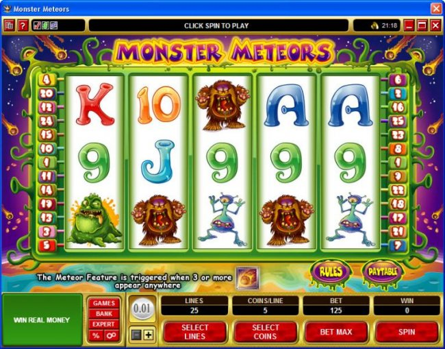 Free Slots 247 image of Monster Meteors