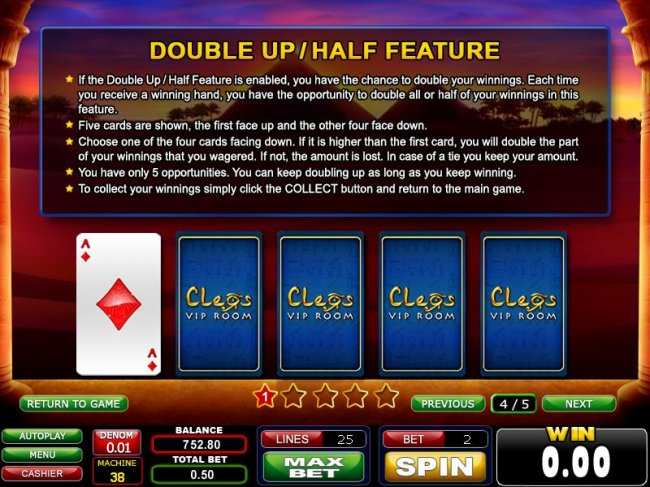 Free Slots 247 - double up / half feature rules