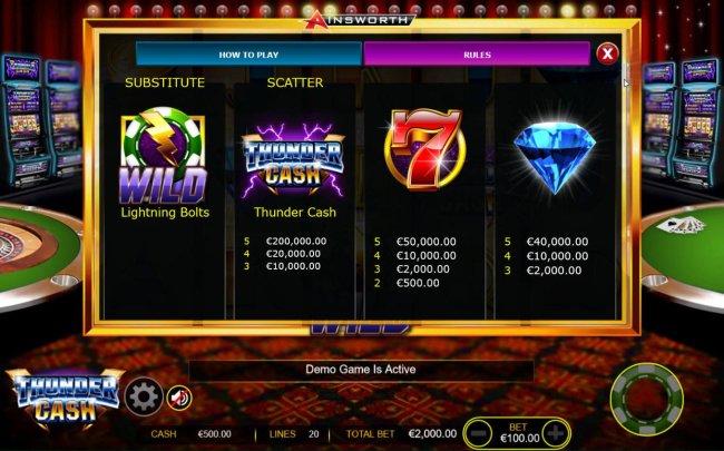 Free Slots 247 - High value slot game symbols paytable - Base Game.