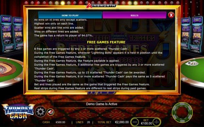Thunder Cash screenshot