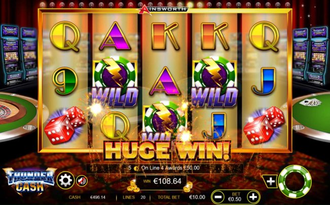 A huge win triggered by multiple winning symbol combinations - Free Slots 247