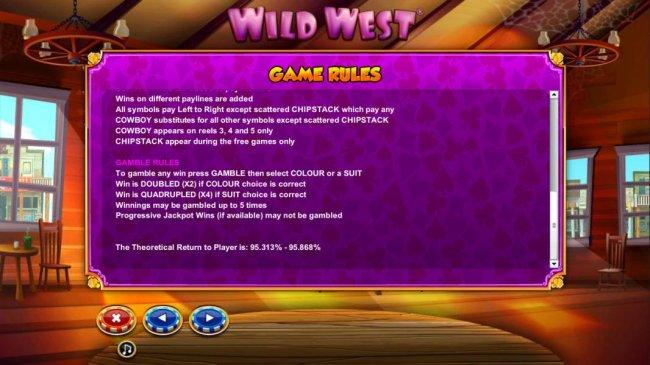 Wild West screenshot