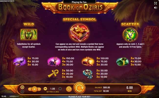 Book of Oziris screenshot