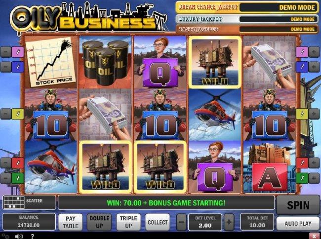 Free Slots 247 - Three scattered wild symbols triggers the Bonus Game